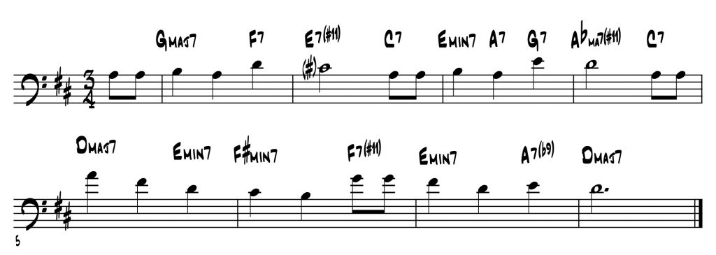 Jazz Reharmonization Of Happy Birthday For Improving Jazz Improvisation